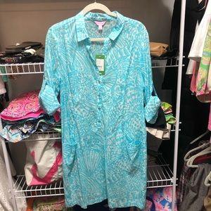 NWT Lilly Pulitzer Sanibel tunic dress size large
